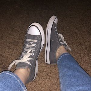 Women's Low Top Double Tongued Gray Converse